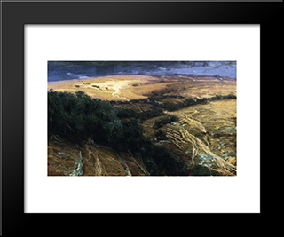 A View In Palestine: Modern Black Framed Art Print by Henry Ossawa Tanner