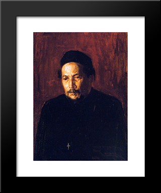 Bishop Benjamin Tucker Tanner: Modern Black Framed Art Print by Henry Ossawa Tanner