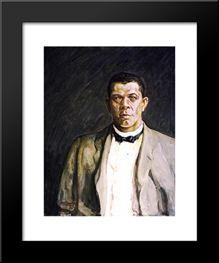 Booker T. Washington: Modern Black Framed Art Print by Henry Ossawa Tanner