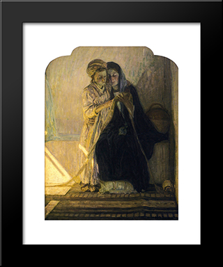 Christ Learning To Read: Modern Black Framed Art Print by Henry Ossawa Tanner