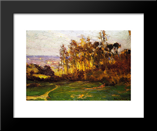 Edge Of The Forest: Modern Black Framed Art Print by Henry Ossawa Tanner