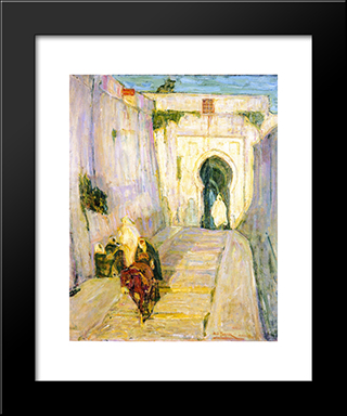Entrance To The Casbah: Modern Black Framed Art Print by Henry Ossawa Tanner