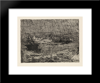 Fishing Boats At Shore, Brittany: Modern Black Framed Art Print by Henry Ossawa Tanner
