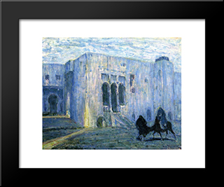Flight Into Egypt. Palais De Justice, Tangier: Modern Black Framed Art Print by Henry Ossawa Tanner