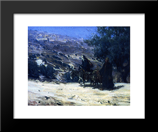Flight Into Egypt: Modern Black Framed Art Print by Henry Ossawa Tanner