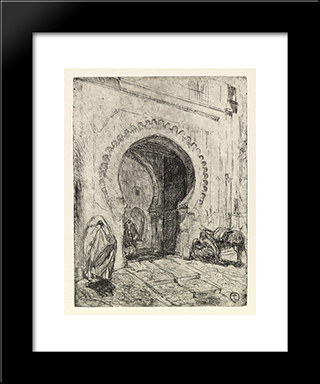 Gate In Tangier: Modern Black Framed Art Print by Henry Ossawa Tanner