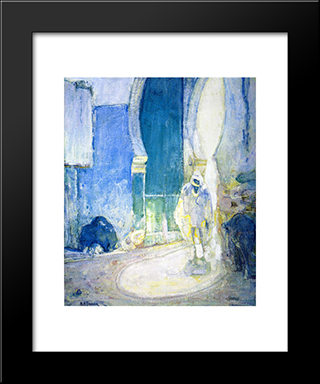 Gate To The Casbah: Modern Black Framed Art Print by Henry Ossawa Tanner