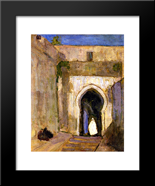 Gateway Tangier: Modern Black Framed Art Print by Henry Ossawa Tanner