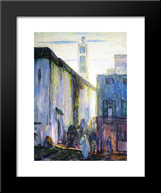 In Constantine: Modern Black Framed Art Print by Henry Ossawa Tanner