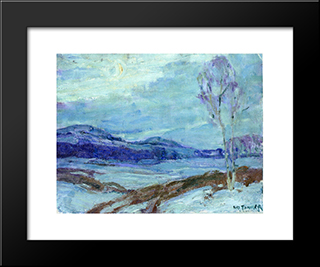 Landscape In Moonlight: Modern Black Framed Art Print by Henry Ossawa Tanner
