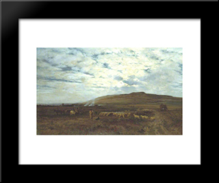 Approaching Night: Modern Black Framed Art Print by Henry William Banks Davis