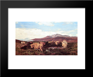 Ben Eay: Modern Black Framed Art Print by Henry William Banks Davis