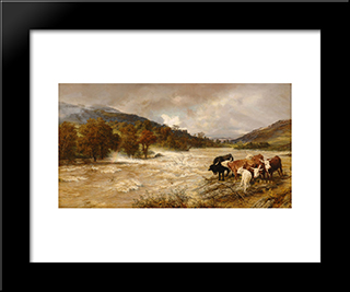 The Flood: Modern Black Framed Art Print by Henry William Banks Davis