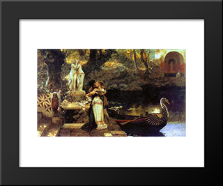 Following The Example Of The Gods: Modern Black Framed Art Print by Henryk Siemiradzki