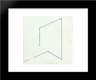 58 - 1977: Modern Black Framed Art Print by Henryk Stazewski