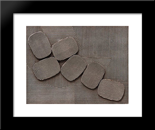 Collage: Modern Black Framed Art Print by Henryk Stazewski