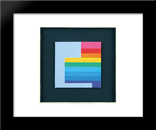 Composition, 1978: Modern Black Framed Art Print by Henryk Stazewski