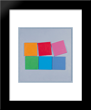 Composition No. 13: Modern Black Framed Art Print by Henryk Stazewski