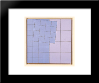 Composition No. 21: Modern Black Framed Art Print by Henryk Stazewski