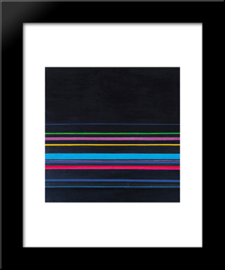 Composition No. 3: Modern Black Framed Art Print by Henryk Stazewski