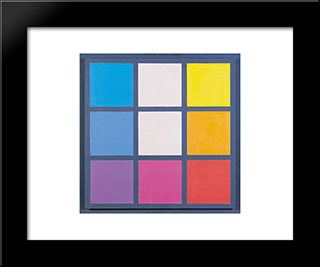 Composition No. 33: Modern Black Framed Art Print by Henryk Stazewski
