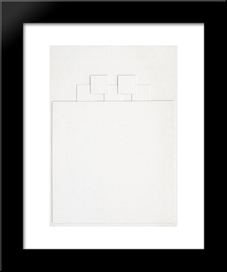 Relief: Modern Black Framed Art Print by Henryk Stazewski