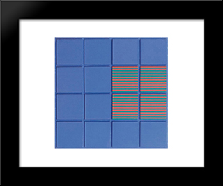 Relief No. 11: Modern Black Framed Art Print by Henryk Stazewski