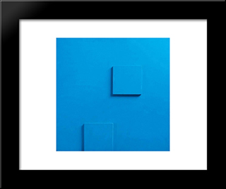 Relief Nr. 12: Modern Black Framed Art Print by Henryk Stazewski