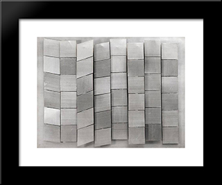 Untitled: Modern Black Framed Art Print by Henryk Stazewski