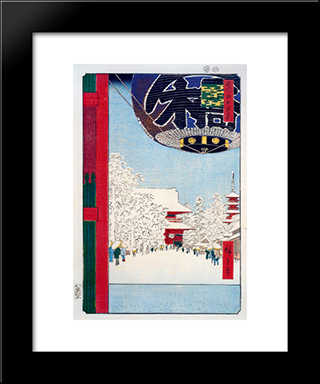 Kinryuzan Temple At Asakusa: Modern Black Framed Art Print by Hiroshige