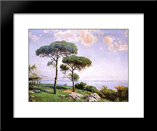 Pistachio Trees: Modern Black Framed Art Print by Hoca Ali Riza