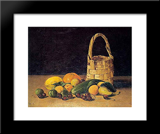 Untitled (Still Life): Modern Black Framed Art Print by Hoca Ali Riza