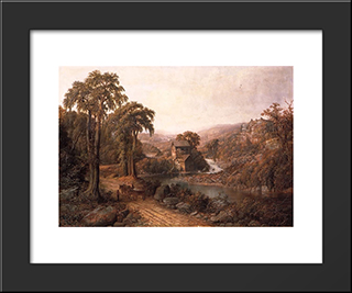 Old Mill And Stream: Modern Black Framed Art Print by Homer Watson