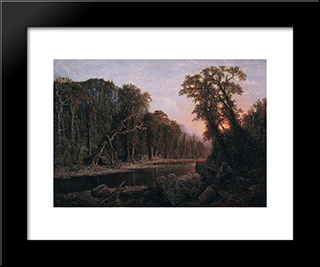 The Castellated Cliff: Modern Black Framed Art Print by Homer Watson