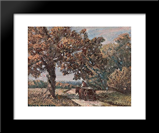 The Load Home: Modern Black Framed Art Print by Homer Watson