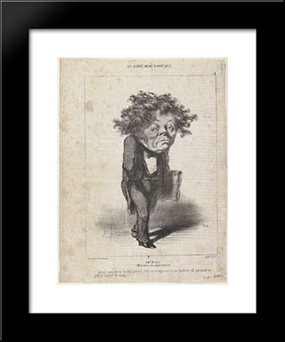 Adolphe Cremieux: Modern Black Framed Art Print by Honore Daumier