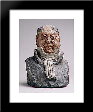 Alexandre Lecomte, Magistrate: Modern Black Framed Art Print by Honore Daumier