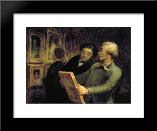Amateurs In An Exposure: Modern Black Framed Art Print by Honore Daumier
