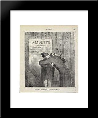 And These Two Major Debris Consoled Them: Modern Black Framed Art Print by Honore Daumier