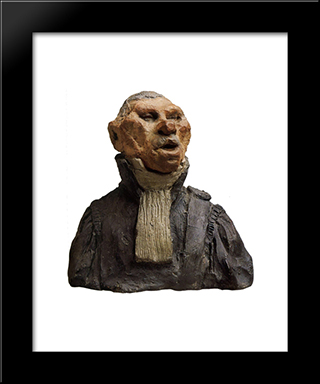 Andre-Marie-Jean-Jacques Dupin, Also Called Dupin The Elder (1783-1865), Deputy, Lawyer, Academician: Modern Black Framed Art Print by Honore Daumier