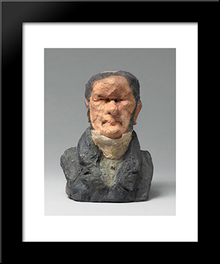 Augustus Ganneron Hippolyte (1792-1847), Industrialist And Mp: Modern Black Framed Art Print by Honore Daumier
