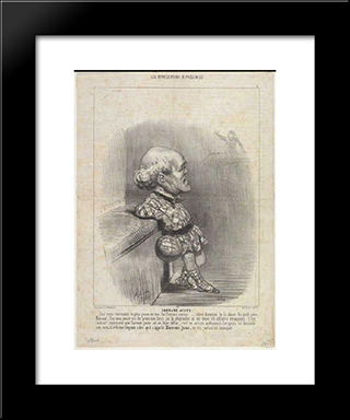 B. Sarrans Young: Modern Black Framed Art Print by Honore Daumier