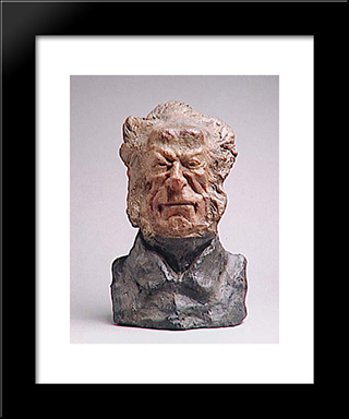 Baron Jacques-Antoine-Adrien Delort (1773-1846), General And Deputy: Modern Black Framed Art Print by Honore Daumier