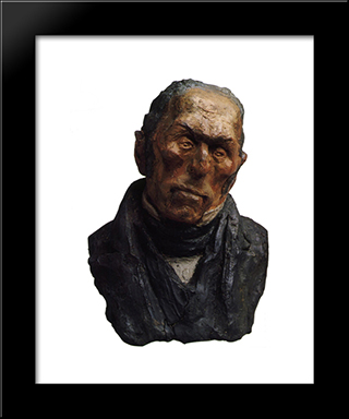Bust Of Francois-Pierre-Guillaume Guizot: Modern Black Framed Art Print by Honore Daumier