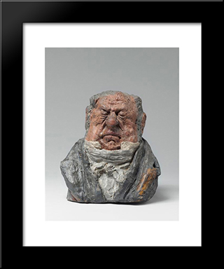 Claude Baillot, Mp: Modern Black Framed Art Print by Honore Daumier