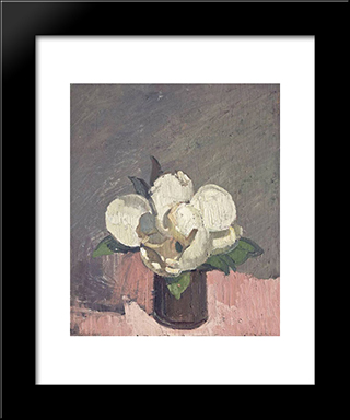 Magnolia: Modern Black Framed Art Print by Horace Trenerry