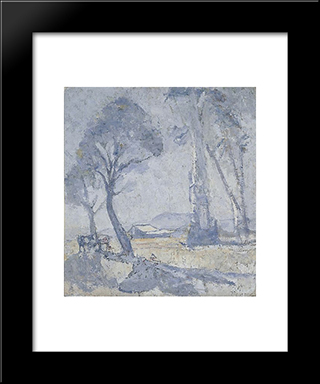 Morning Mists: Modern Black Framed Art Print by Horace Trenerry