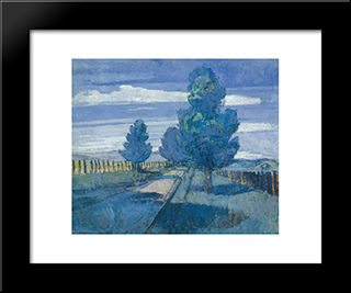 The Pines: Modern Black Framed Art Print by Horace Trenerry