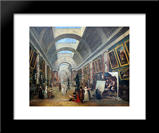 Projet D'Amenagement De La Grande Galerie Du Louvre: Modern Black Framed Art Print by Hubert Robert