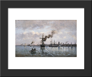 Port Of Copenhagen: Modern Black Framed Art Print by Ioannis Altamouras